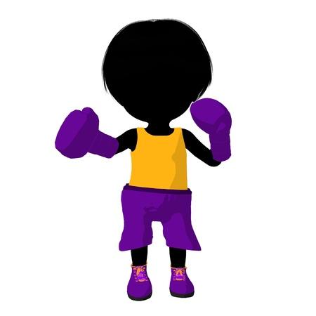 Boxer bambina su sfondo bianco Archivio Fotografico - 11573229