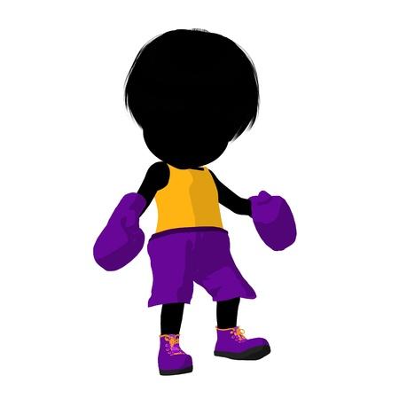 Little boxer girl on a white background Фото со стока