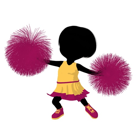Little cheer girl on a white background Stock Photo - 11573281