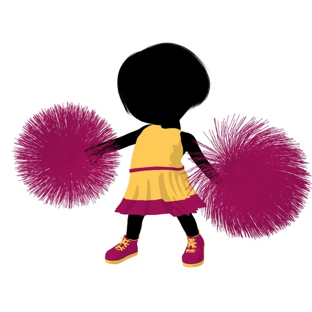 Little cheer girl on a white background photo