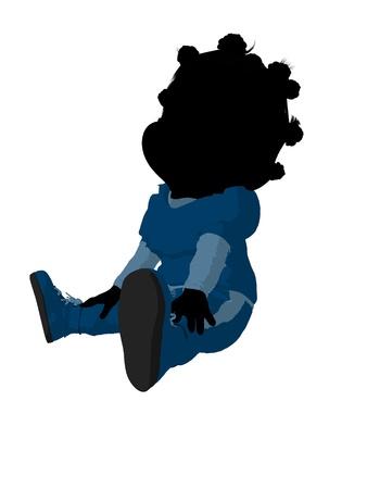 Little african american football girl on a white background Zdjęcie Seryjne - 11573090