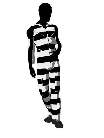 criminal: Male criminal on a white background