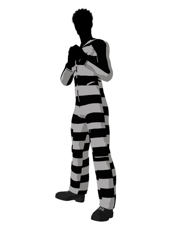 villainous: African american male criminal on a white background