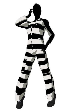 villainous: Female criminal on a white background