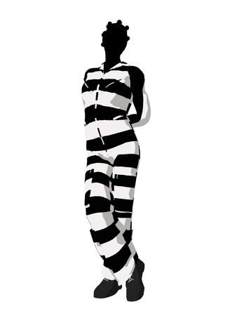 villainous: African american female criminal on a white background Stock Photo
