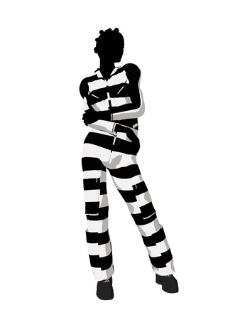 delinquent: African american female criminal on a white background Stock Photo