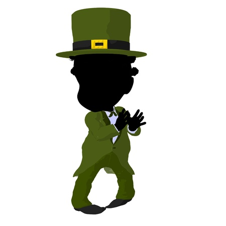 Little african american leprechaun girl on a white background Stock Photo - 11991083