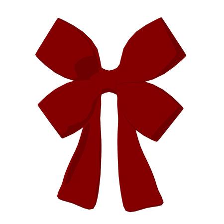 Red Christmas Bow Zdjęcie Seryjne