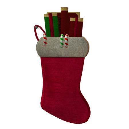 Weihnachtsmann-Strumpf Standard-Bild - 24832559