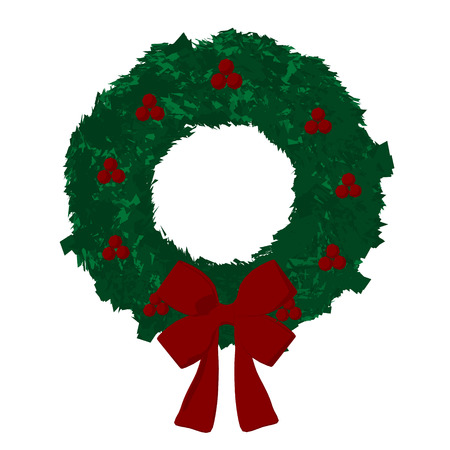 Wreath with a bow and decorations