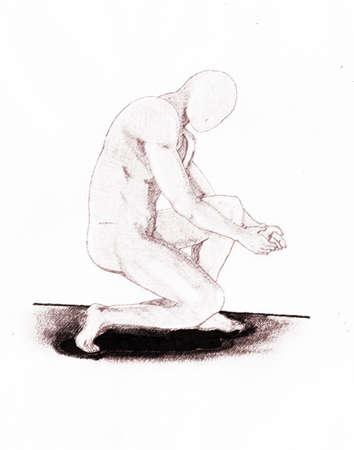 knees worshiping 版權商用圖片