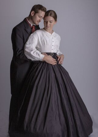 Victorian couple in love Foto de archivo