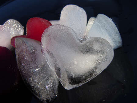 heart shape ice cubes Stock Photo - 10044933