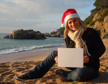 Christmas beach ad photo