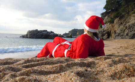 santa s helper on vacation Stock Photo - 12764001