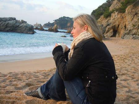 scarf beach: tener un caf� en la naturaleza