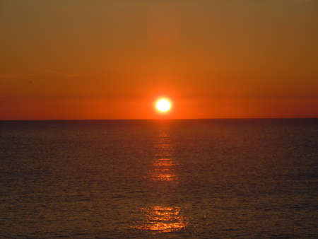 sunrise at mediterranean sea photo