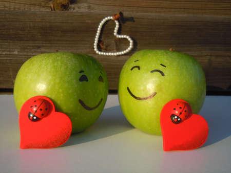 valentine's apples Stock Photo - 12034849