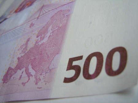 backside of 500 euro bill photo