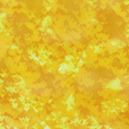 gold background hearts pattern watercolor paper texture photo