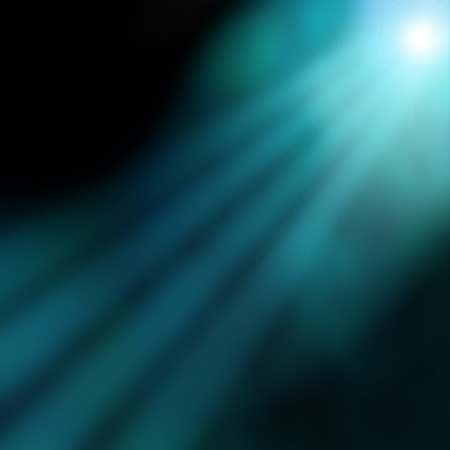 diving board: blue abstract background underwater rays of spot light