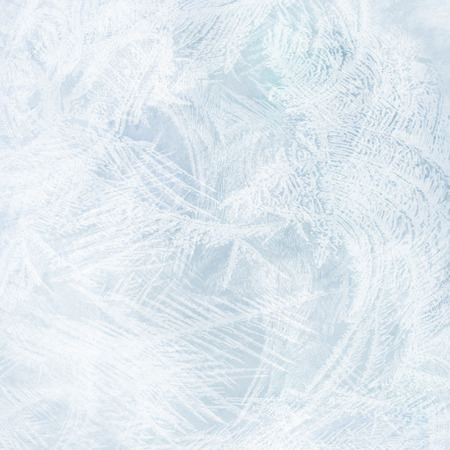 bright blue abstract background frozen water on the glass texture photo