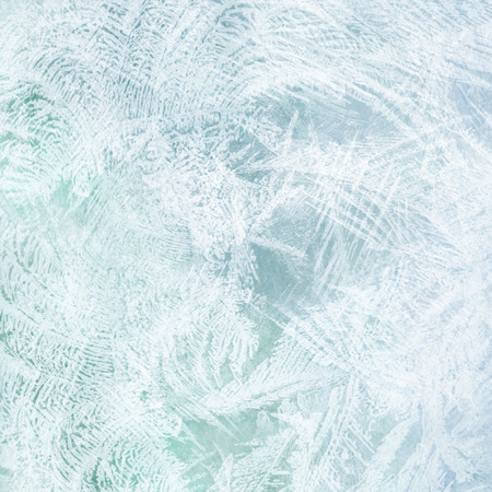 bright blue abstract background frozen water on the glass texture Reklamní fotografie