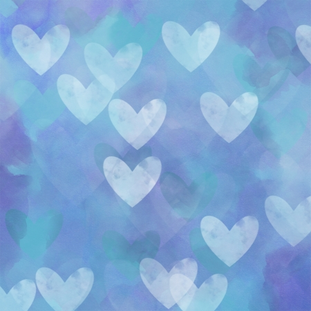 blue background hearts pattern texture photo