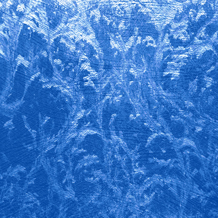frosted window: blue abstract background frozen water texture