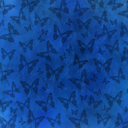 mana: many little butterfly pattern - blue abstract background