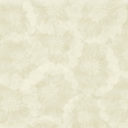 stamped: white gypsum board, painted with watercolors, stamped shapes of small flowers texture