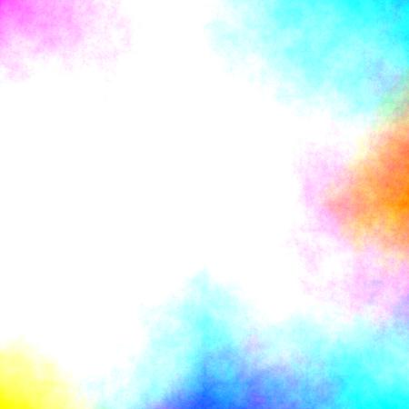 Bordure colorée d'aquarelle Banque d'images - 80543583