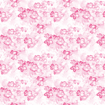 Pink flowers - seamless abstract background