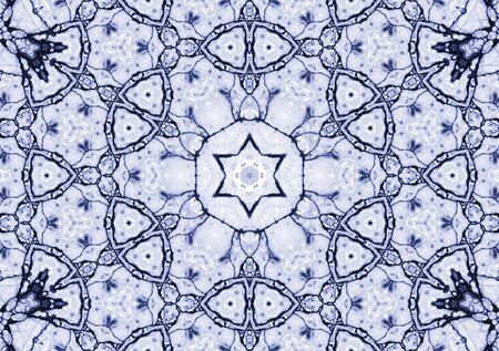 old ceramic tile - symmetrical pattern in a vintage style