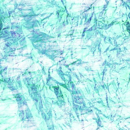 crumpled green paper texture - abststract background