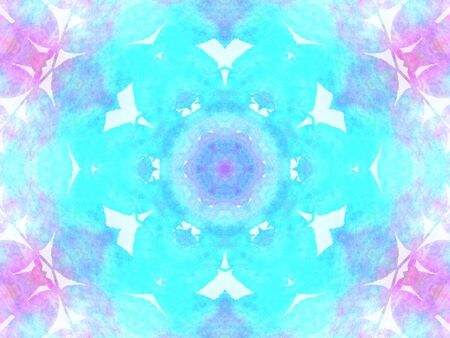 violet and turquoise abstract watercolor - geometric texture
