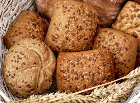 Polish multigrain rolls. Freshly baked bread.