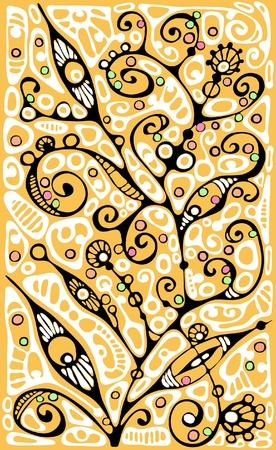 Graphic plants stylization