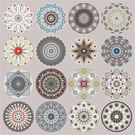 Ornamental circles decors Stock Vector - 14003106