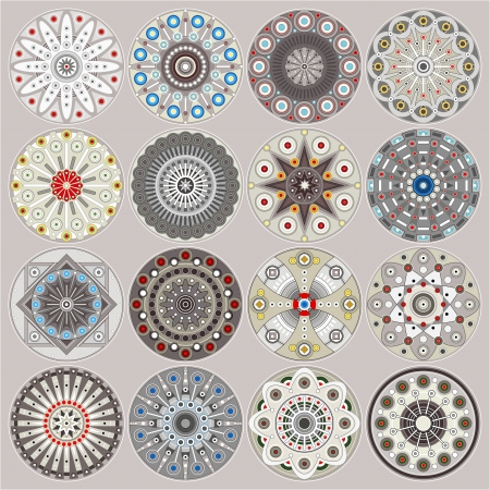 rosetta: Ornamental circles decors