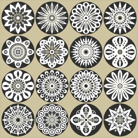 tallado en madera: Flores ornamentales decoraciones