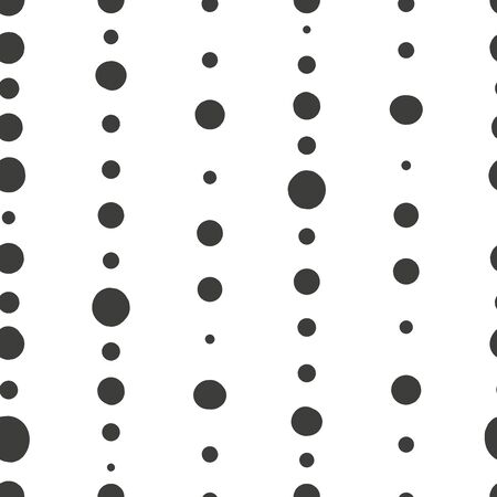Simple abstract seamless patterns with spots and dots. Background for decoration, wrapping paper, wallpaper, cards and greetings. Minimalistic style two colors Vettoriali