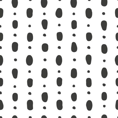 Circular abstract seamless patterns with spots and dots. Background for decoration, wrapping paper, Wallpaper, postcards and greetings. Minimalistic style two colors