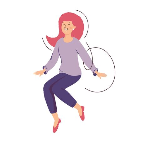 Girl jump. The concept of success, good luck and good mood. Happy woman.