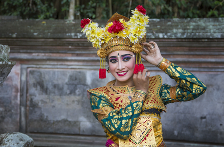 balinese dancer posing for the camera