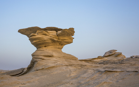 sand formations in a desert near Abu Dhabi, UAE Stock Photo