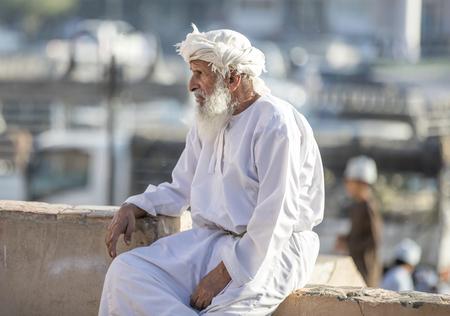 Nizwa, Oman, 10th Nobember 2017: omani man resting at a market