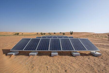 solar panels in a desert Imagens