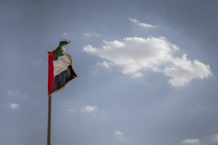 UAE flag flying in the wind