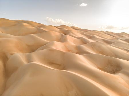 aerial view of Liwa desert in Abu Dhabi
